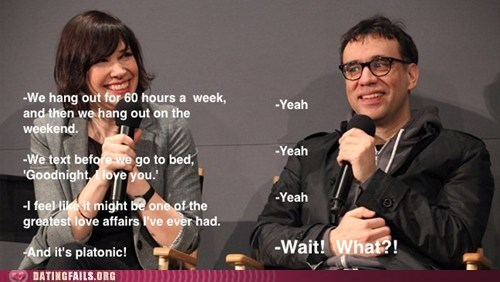 carrie brownstein,fred armisen,friendzoned,misunderstanding,portlandia