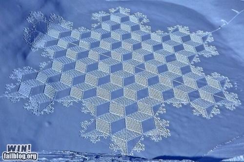 art design pretty colors shapes snow winter - 5874020864