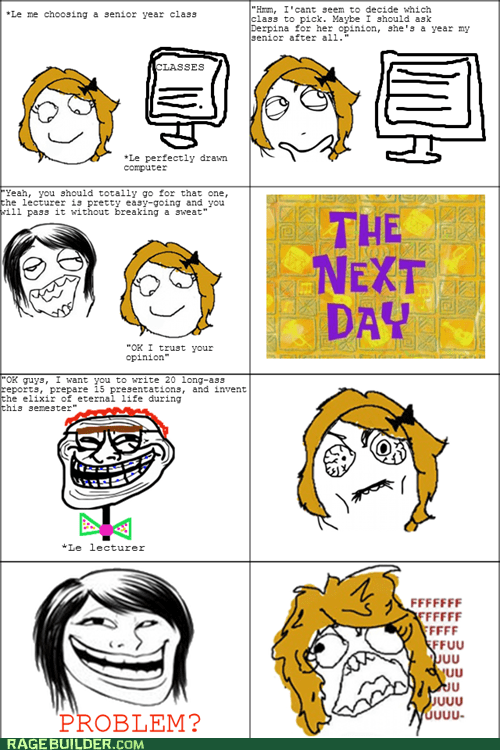 classes fu gal Rage Comics truancy story - 5874029312