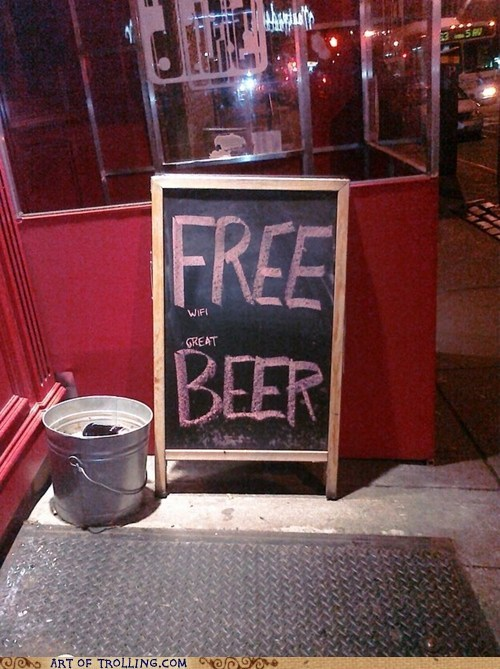beer free IRL sign wifi - 5874030080