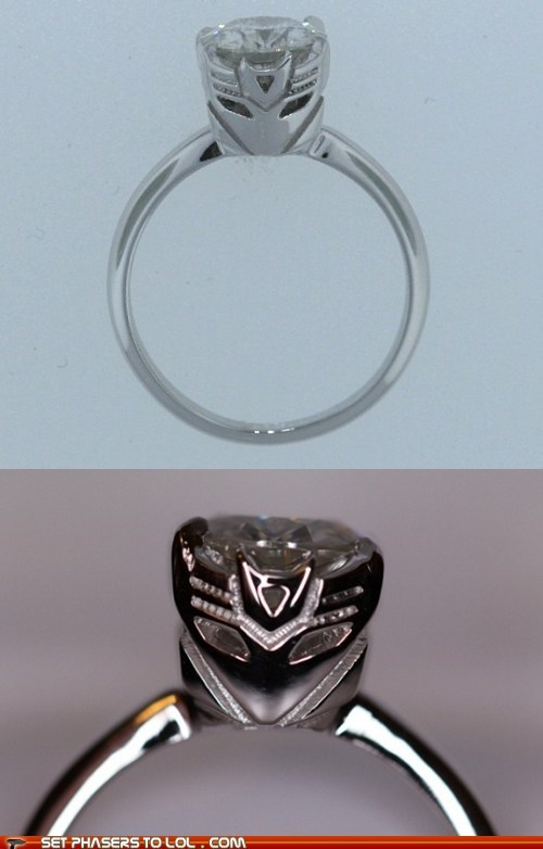 Decepticons engagement ring fiancé galvatron megatron transformers wedding - 5874084864