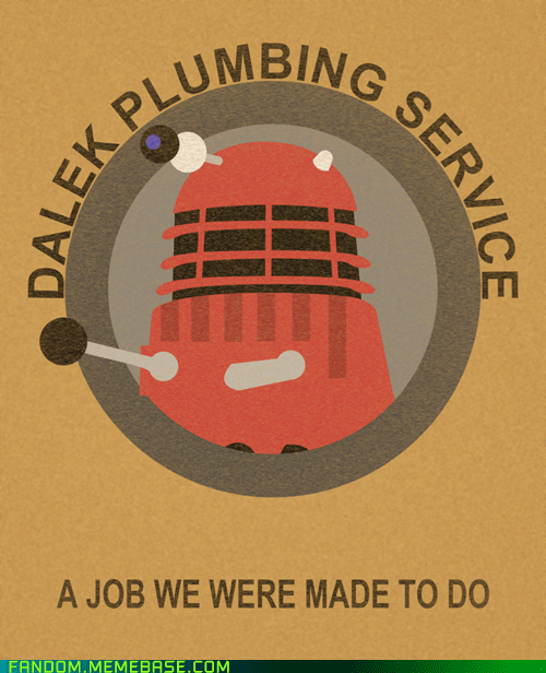 dalek,doctor who,Fan Art,plumber