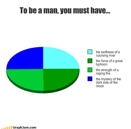 To be a man, you must have...