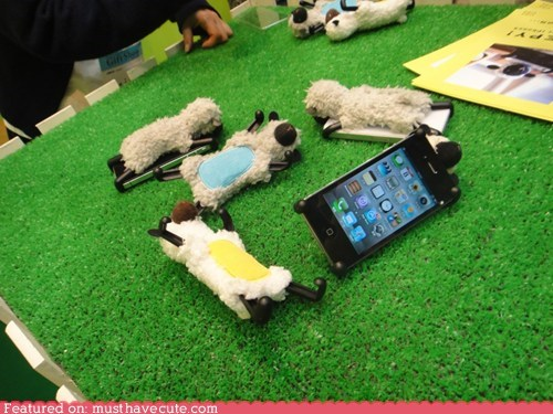 furry iphone lamb phone stand sheep - 5874265344