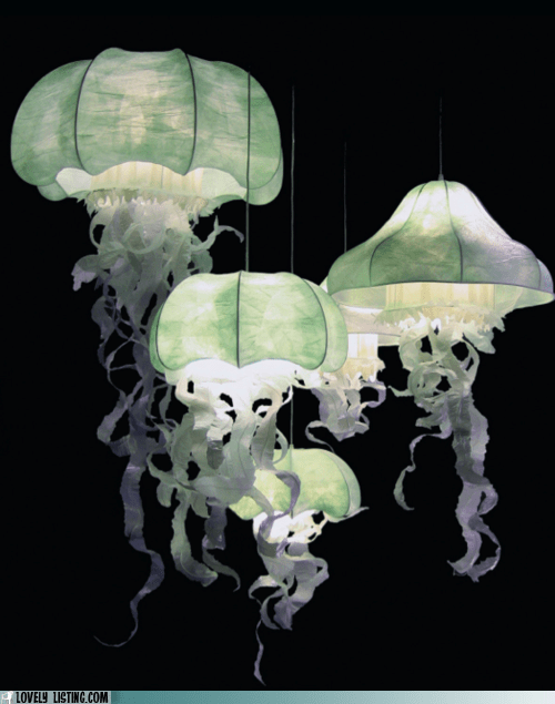 decor jellyfish lamp light lovely - 5874279680