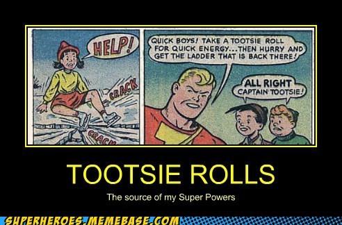 powers superhero Super-Lols tootsie rolls wtf