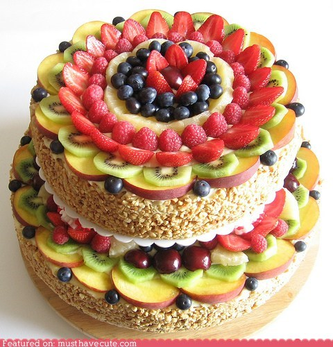 beautiful,best of the week,cake,dance,epicute,fruit,tiered