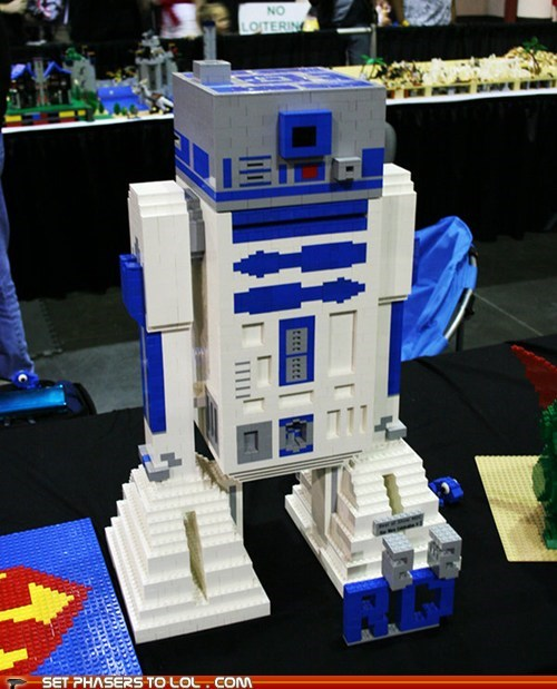 blocks built droid lego r2d2 star wars - 5874586624