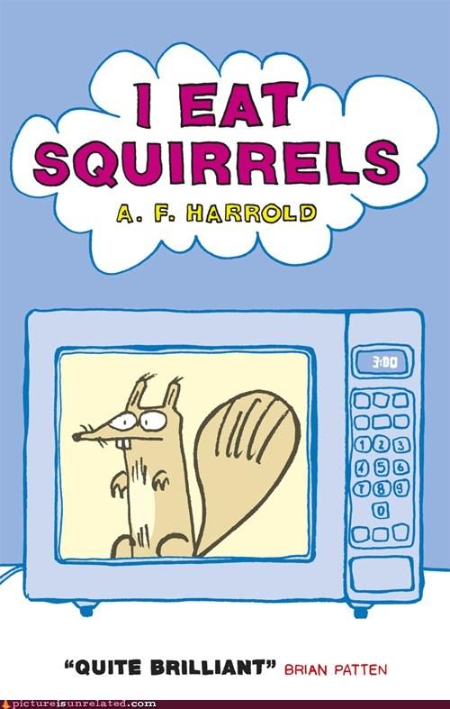 book food microwave squirrels wtf - 5874701824