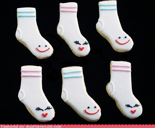 cookies epicute faces icing socks - 5874749184