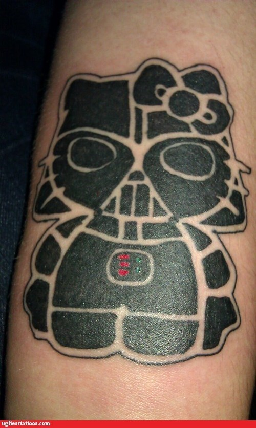 darth hello kitty,darth vader,g rated,Hall of Fame,hello kitty,star wars,Ugliest Tattoos