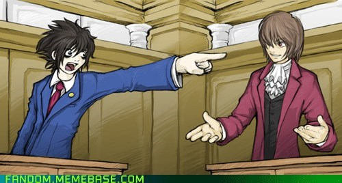 anime death note Fan Art l objection phoenix wright video games - 5874986240