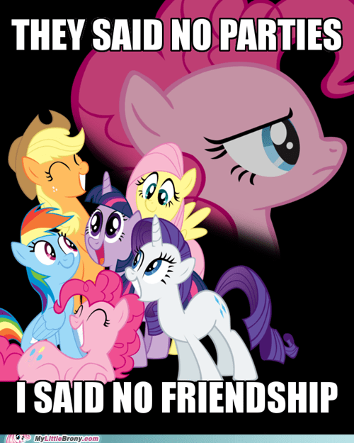 friendship mane six meme pinkie pie rarity - 5875211264