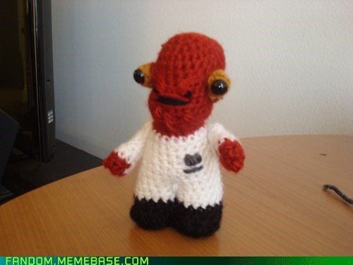 admiral ackbar,Fan Art,knit,star wars