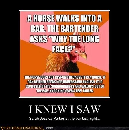 bar,hilarious,horse,sarah jessica parker