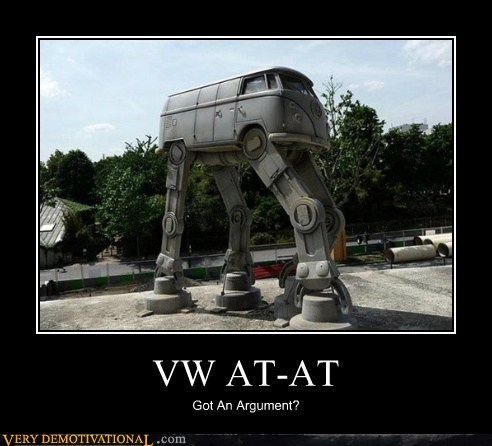 amazing at at hilarious star wars van VW