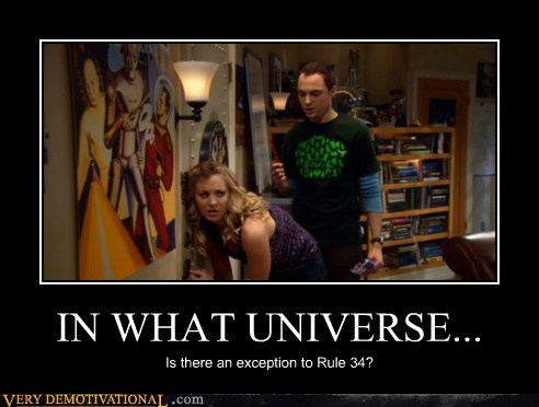 big bang theory,hilarious,Rule 34,universe