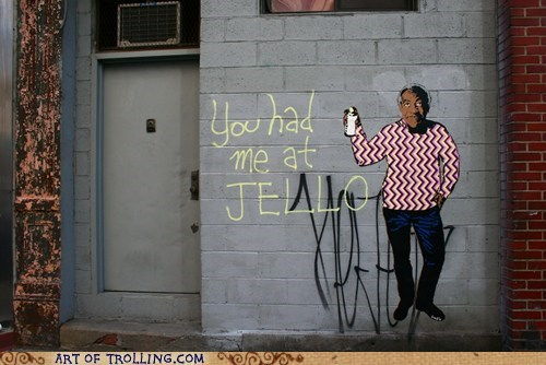 bill cosby,graffiti,IRL,Jello