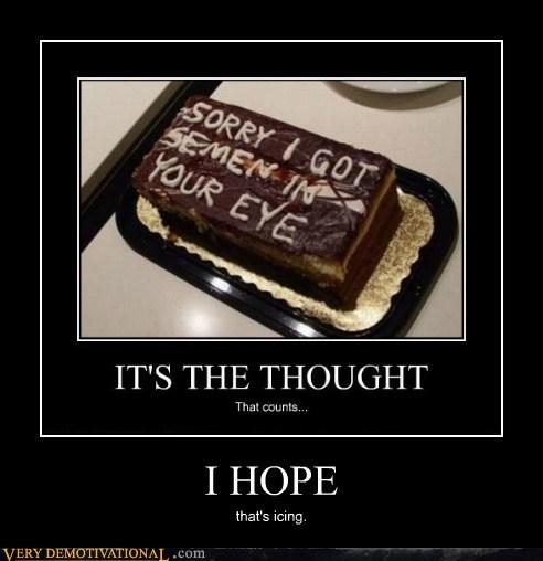 cake hilarious hope icing wtf - 5876857344