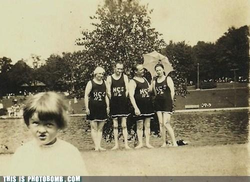 Awkward black and white kid old swim team - 5877060864