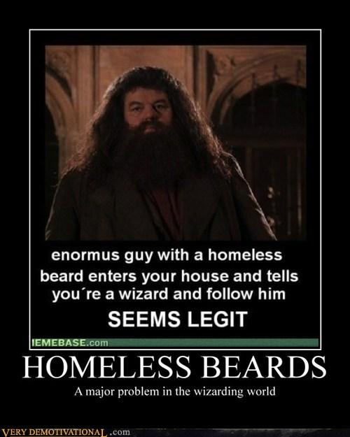 beards Hagrid Harry Potter hilarious homeless - 5877140224