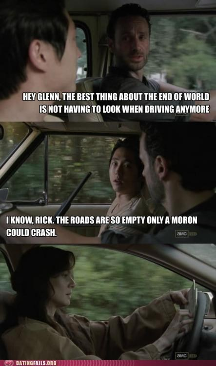 crashing dating fails driving Hall of Fame lori The Walking Dead wife