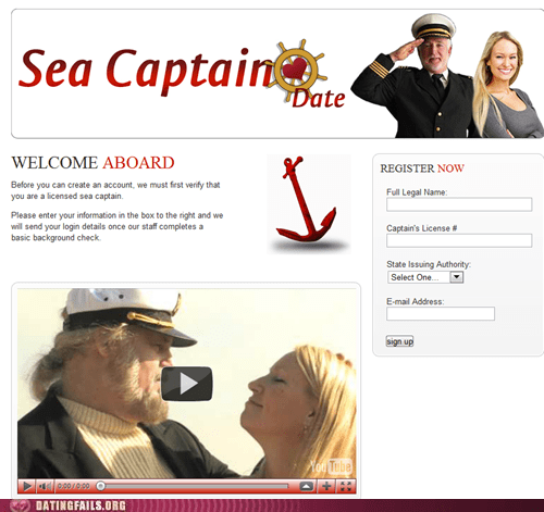 dating fails g rated pirates sea captain date Welcome Aboard