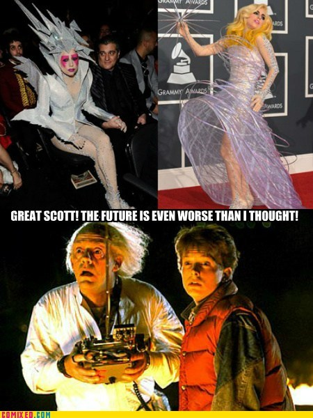 back to the future,From the Movies,lady gaga,outfits,scary