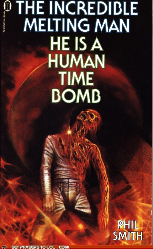 book covers,books,cover art,man,melting,science fiction,title,wtf