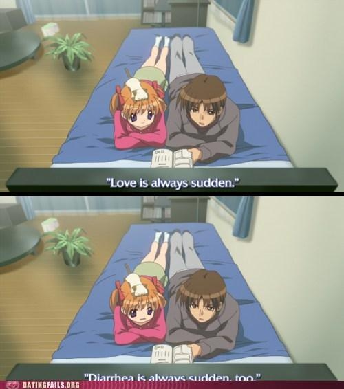 love is diarrhea love is sudden sudden - 5877928960
