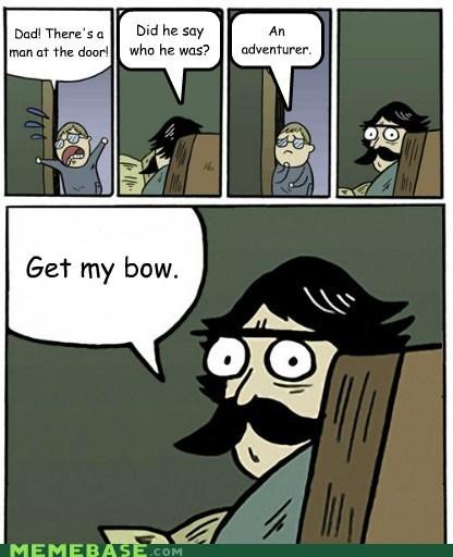 arrow to the knee bow Okay Skyrim stare dad - 5877953280
