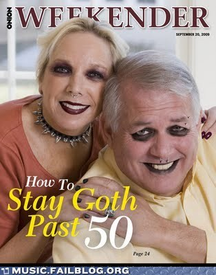 aging,goth,old,the onion