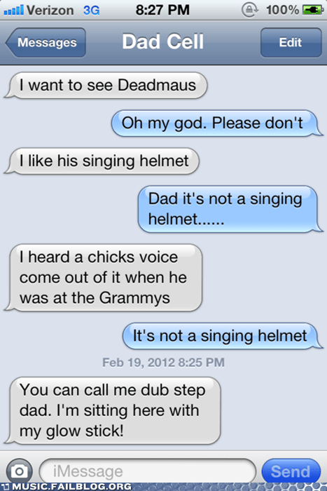 dad Deadmau5 Grammys parenting techno text texting