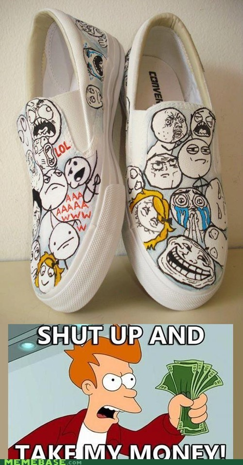 fry Memes rage faces shoes - 5878099968
