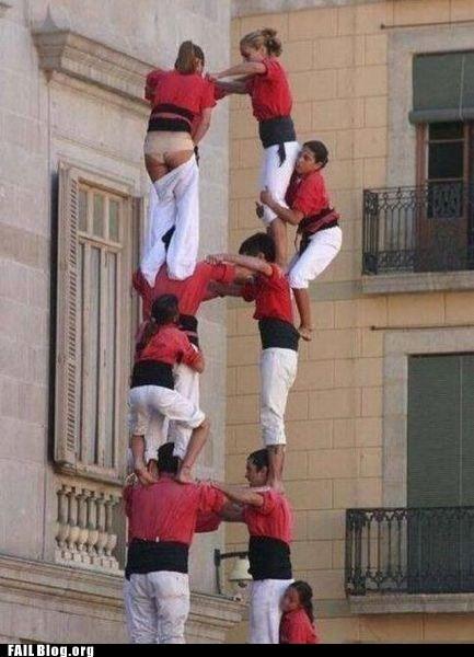 acrobatics falling slip whoops
