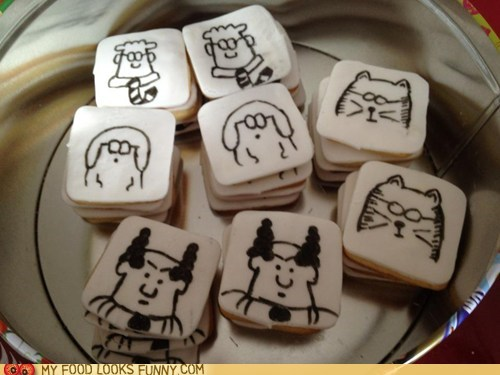 comic cookies dilbert drawing icing