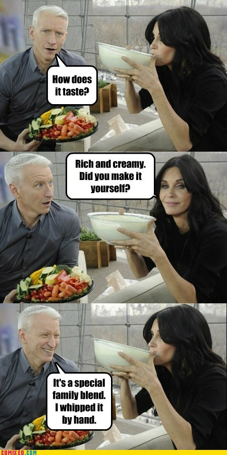 Anderson Cooper,celebutard,courtney cox,expression,made it myself,secret sauce