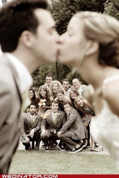 bride funny wedding photos groom KISS wedding party - 5878356736