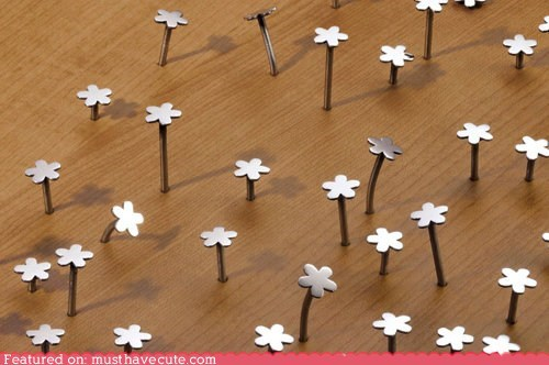 cute DIY flowers hardware nails tools - 5878402560