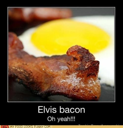 bacon celeb dead Elvis face