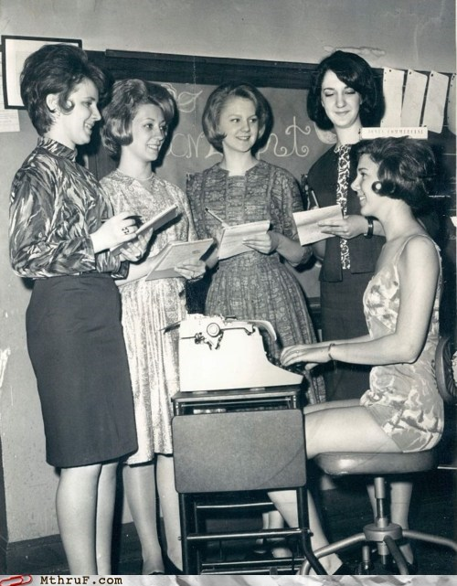 1950s typewriter typing typist women - 5878514176