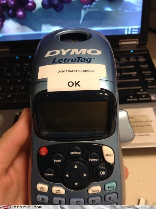 label maker wasting
