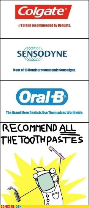colgate dentist oral b recommendation sensodyne toothpaste - 5878928128
