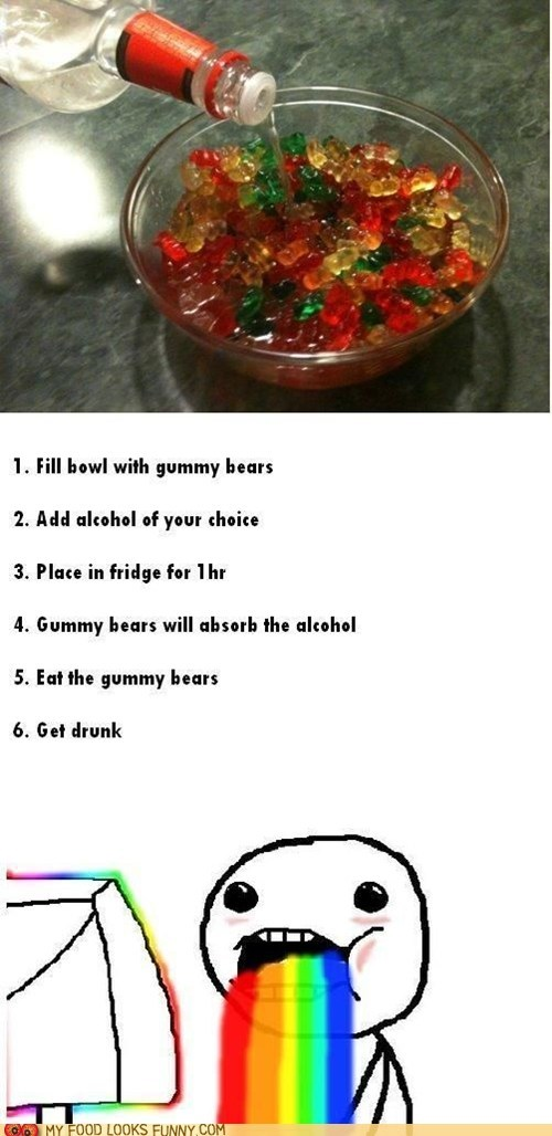 alcohol amateurs best of the week booze gummy bears recipe vodka - 5878944000