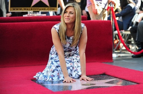 Hollywood Walk of Fame,Industry News,jennifer aniston,justin theroux