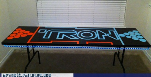 beer pong,DIY,nerdgasm,table,tron