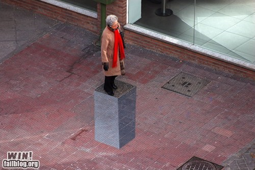 art pedestal perspective Street Art trickery - 5879064576