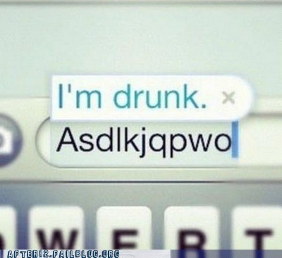 autocorrect AutocoWrecks drunk gibberish iphone phone