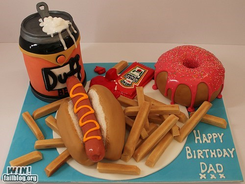 cake cartoons food mmm donuts simpsons - 5879204352