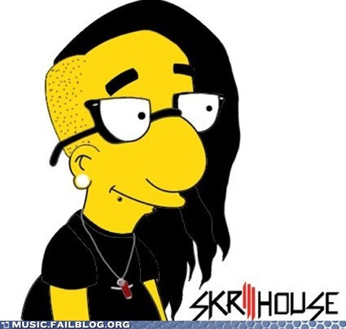 dubstep,milhouse,simpsons,skrillex,the simpsons